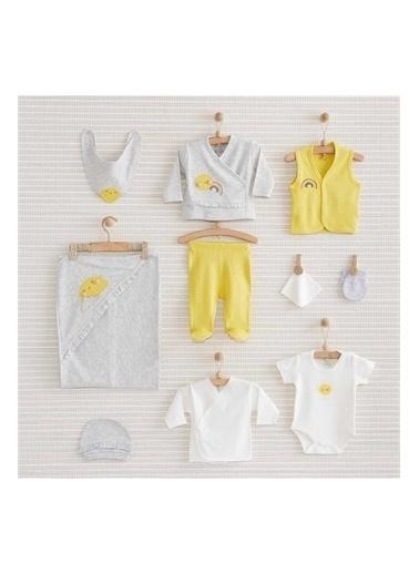 Nenny Baby Nenny Baby Nb150 Güneş Desenli Kız Bebek Sun 10'Lu Hastane Çıkış Seti Gri